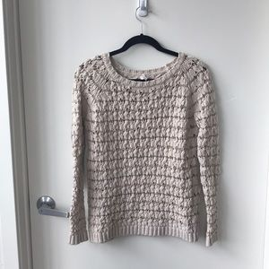 Willow & Clay Cream Oversized Sweater - Small